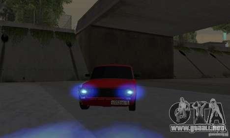 VAZ 2101 Restyling para GTA San Andreas vista posterior izquierda