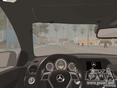 Mercedes-Benz C63 AMG Coupe Black Series para la vista superior GTA San Andreas