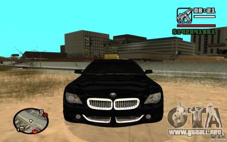 BMW M6 2006 para GTA San Andreas left