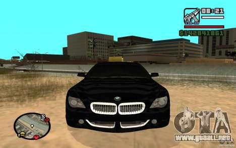 BMW M6 2006 para GTA San Andreas left