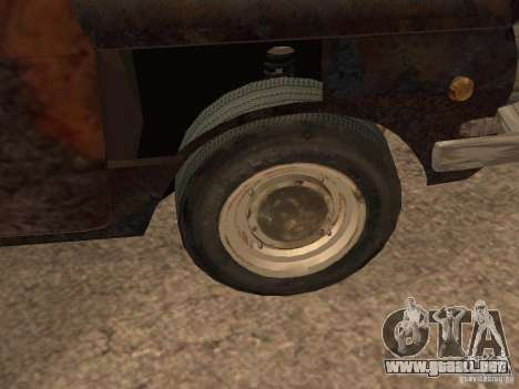 ZAZ-968 abandonado para GTA San Andreas vista hacia atrás