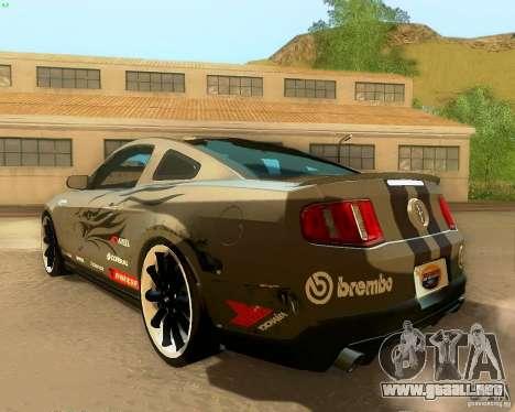 Ford Mustang Boss 302 2011 para vista inferior GTA San Andreas