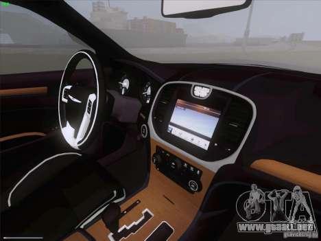 Chrysler 300 Limited 2013 para GTA San Andreas vista hacia atrás
