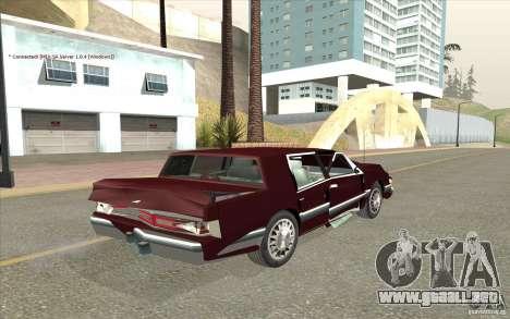 Chrysler Dynasty para vista lateral GTA San Andreas