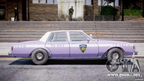 Chevrolet Impala Police 1983 v2.0 para GTA 4 vista lateral
