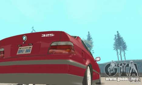 BMW 325i Coupe para GTA San Andreas vista hacia atrás