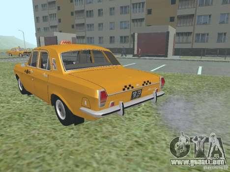 Taxi GAZ 24-01 para visión interna GTA San Andreas