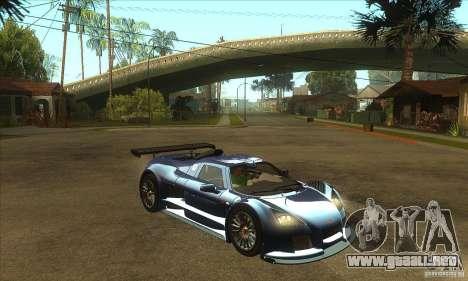Gumpert Apollo Sport para GTA San Andreas vista hacia atrás