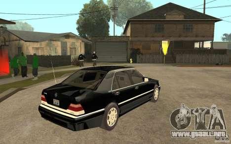 Mercedes-Benz S600 V12 W140 1998 V1.3 para GTA San Andreas