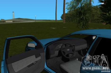 Lada Priora Hatchback v2.0 para GTA Vice City vista interior
