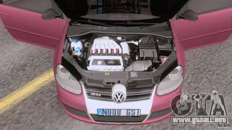 VW Golf 5 R32 2006 StanceWorks para GTA San Andreas vista hacia atrás
