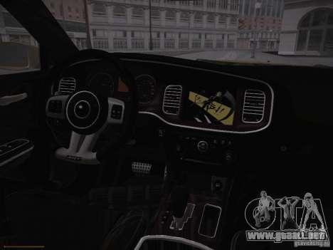 Dodge Charger SRT8 2012 para visión interna GTA San Andreas