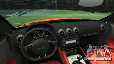 Audi TT Stock 2007 para GTA 4 vista hacia atrás