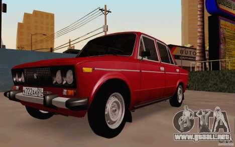 Drenaje 2106 VAZ para GTA San Andreas vista hacia atrás