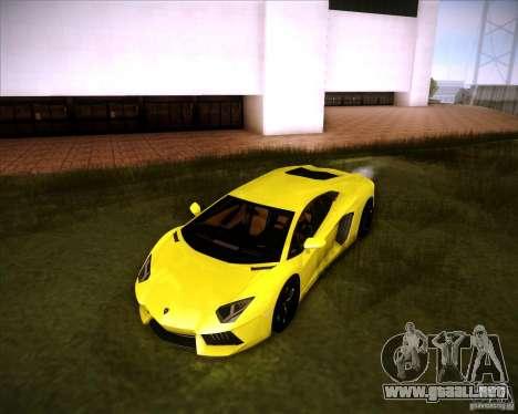 Lamborghini Aventador para GTA San Andreas vista posterior izquierda