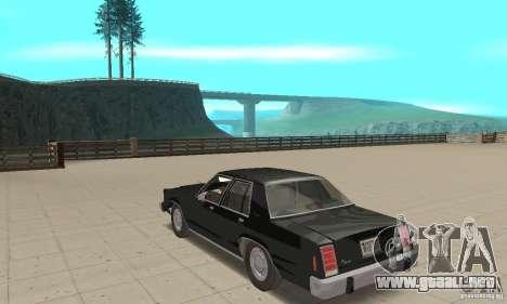 Ford LTD Crown Victoria 1985 MIB para GTA San Andreas vista posterior izquierda