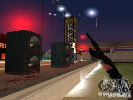 Concierto de la AK-47 para GTA San Andreas quinta pantalla