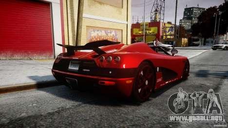 Koenigsegg CCXR Edition para GTA 4 vista lateral
