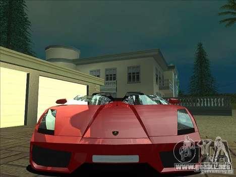 Lamborghini Concept S para vista inferior GTA San Andreas