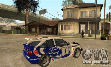 Ford Escort RS Cosworth para la vista superior GTA San Andreas