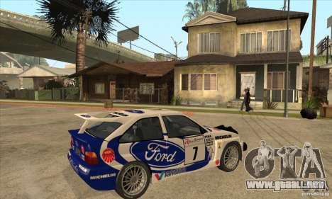 Ford Escort RS Cosworth para la vista superior GTA San Andreas