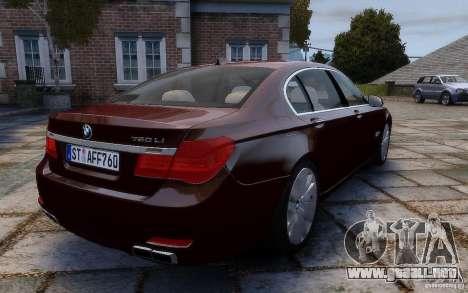 BMW 760Li 2011 para GTA 4 vista hacia atrás