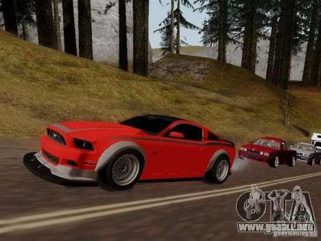 Ford Mustang RTR Spec 3 para GTA San Andreas vista hacia atrás