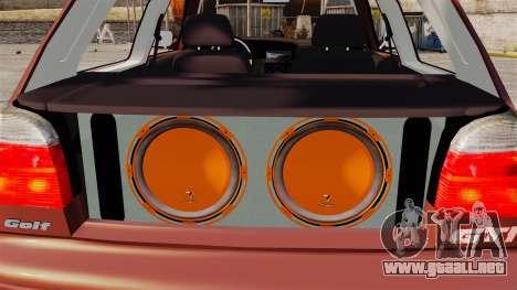 Volkswagen Golf MK3 Turbo para GTA 4 vista interior