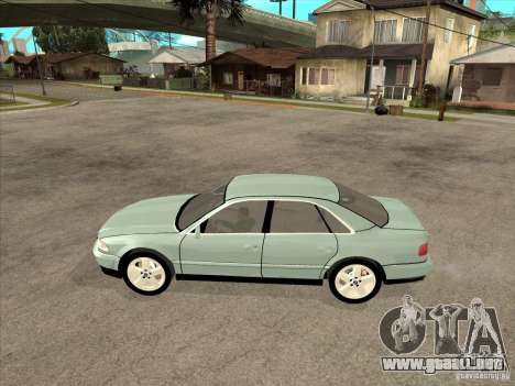 Audi A8 Long 6.0 W12 2002 para GTA San Andreas vista posterior izquierda