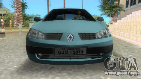 Renault Megane Sedan para GTA Vice City vista lateral izquierdo