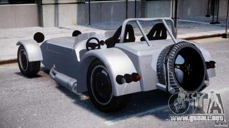 Caterham Super Seven para GTA 4 Vista posterior izquierda