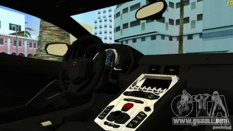 Lamborghini Aventador LP 700-4 para GTA Vice City left