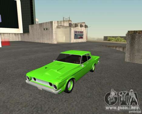 Plymouth Savoy 1962 para GTA San Andreas vista hacia atrás