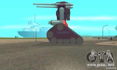 Tanque RX-75-4 Guntank para GTA San Andreas left
