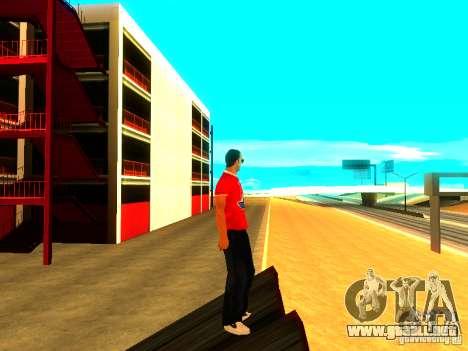 Reportero de piel para GTA San Andreas sucesivamente de pantalla