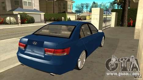Hyundai Sonata NF para la visión correcta GTA San Andreas