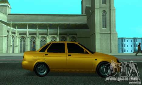Lada Priora para vista inferior GTA San Andreas