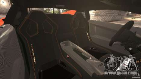Lamborghini Gallardo LP570-4 Superleggera para GTA 4 vista interior