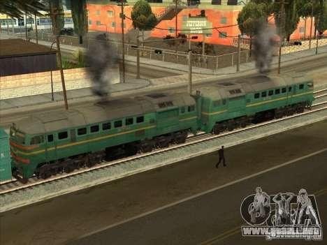 Carga Estados bálticos locomotora ferroviaria fo para GTA San Andreas vista posterior izquierda