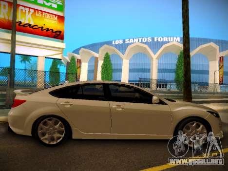 Mazda 6 para GTA San Andreas vista posterior izquierda