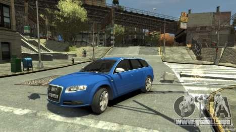 Audi S4 Avant para GTA 4 vista hacia atrás