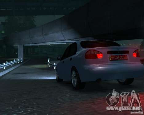 Daewoo Lanos para GTA 4 Vista posterior izquierda