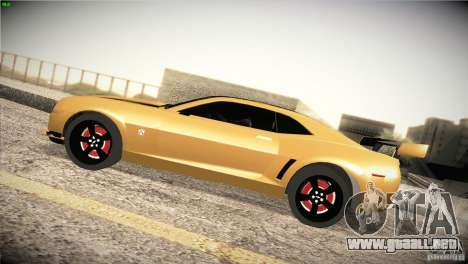 Chevrolet Camaro SS Transformers 3 para GTA San Andreas left