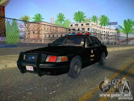 Ford Crown Victoria Police Intercopter para GTA San Andreas vista hacia atrás