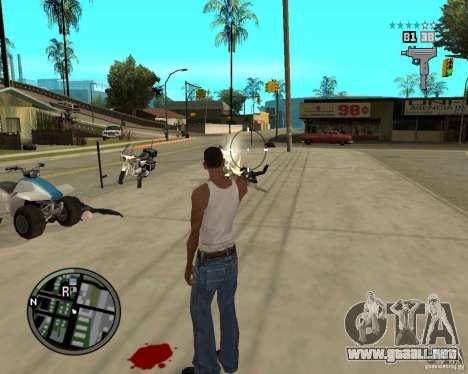 GTA IV HUD para GTA San Andreas sucesivamente de pantalla