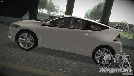 Honda CR-Z 2010 V1.0 para GTA San Andreas vista posterior izquierda