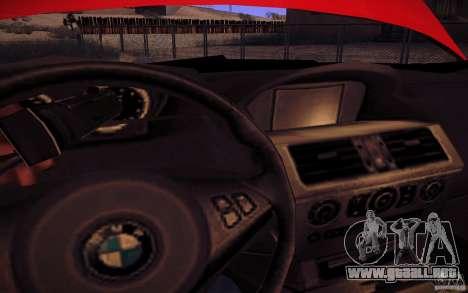 BMW M6 para la vista superior GTA San Andreas