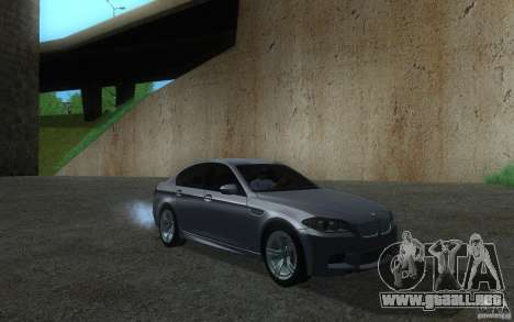 BMW M5 2012 para GTA San Andreas left