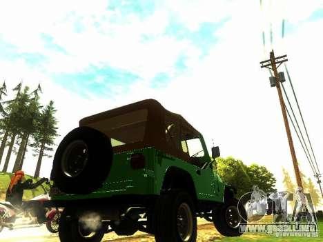 Jeep Wrangler Convertible para GTA San Andreas left