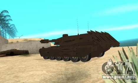 Rinoceronte tanque Megatron para GTA San Andreas vista posterior izquierda